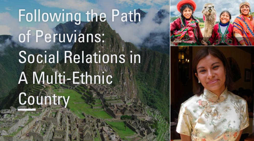 Peruvian mountains and Native and Asian Peruvians