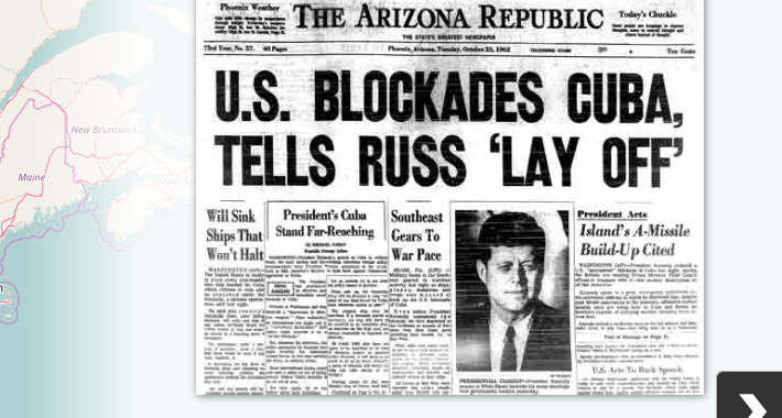 Newspaper clipping from the Arizona Republic concerning Cuba